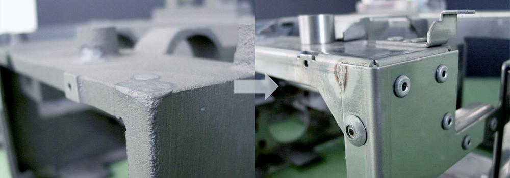 鋳物からリベット構造へ
